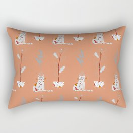 I am fuckin' grumpy. Rectangular Pillow