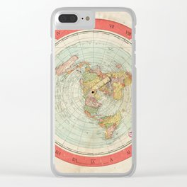 Flat Earth Clear iPhone Case
