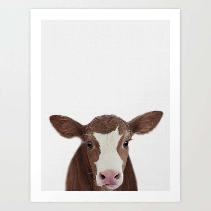 Cow Print Farm Animal Prints Nursery Decor Art Baby Animals