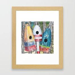 Buoy Birdhouse Framed Art Print