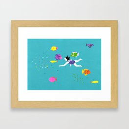 Let's Swim Together - Fish Framed Art Print