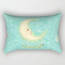 Woman in the Moon Rectangular Pillow