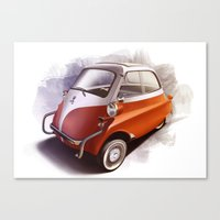 bmw Canvas Prints featuring BMW Isetta by Sven Sellik