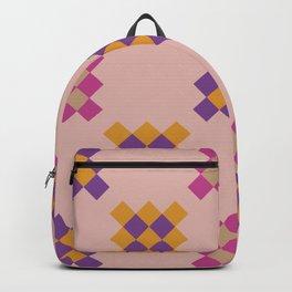 Multicolored geometric print Backpack
