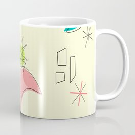 Boomerangs and Starbursts Yellow Coffee Mug