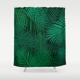 palm trees on a clear night Shower Curtain