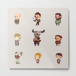 Dragon Age Inquisition: Companions Metal Print