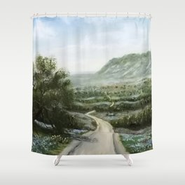 Texas Hill Country Shower Curtain