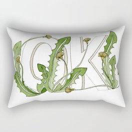 OK Floral Rectangular Pillow