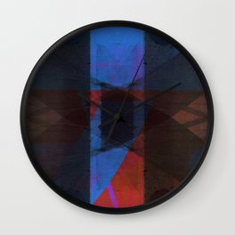 the eccentric shock of my insecurity Wall Clock