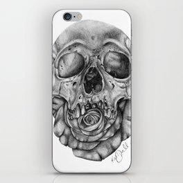 Skull and Rose iPhone Skin