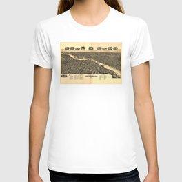 Vintage Map of Rockford Illinois (1891) T-shirt