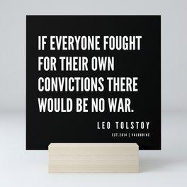 23  | Leo Tolstoy Quotes | 190608 Mini Art Print