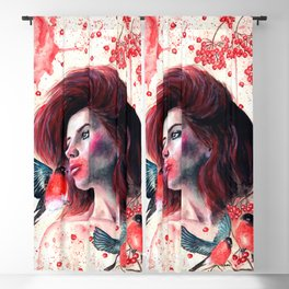 Kissing winter Blackout Curtain