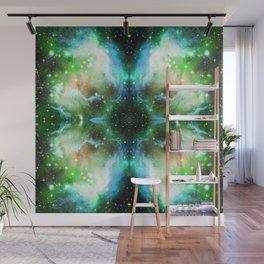 Aqua Space Nebula Wall Mural