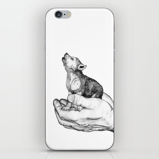 Wolf Cub // Graphite iPhone & iPod Skin