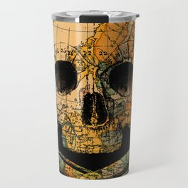 Treasure Map Skull Wanderlust Europe Travel Mug