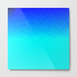 Electric Blue Ombre flames / Light Blue to Dark Blue Metal Print