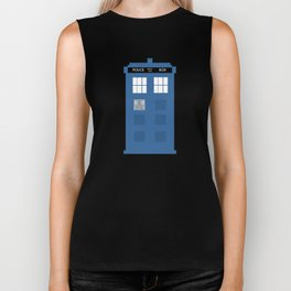 TARDIS Under the Sea - Doctor Who Digital Watercolor Biker Tank