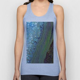 Age And Beauty - Original, abstract, fluid, marbled painting Unisex Tank Top