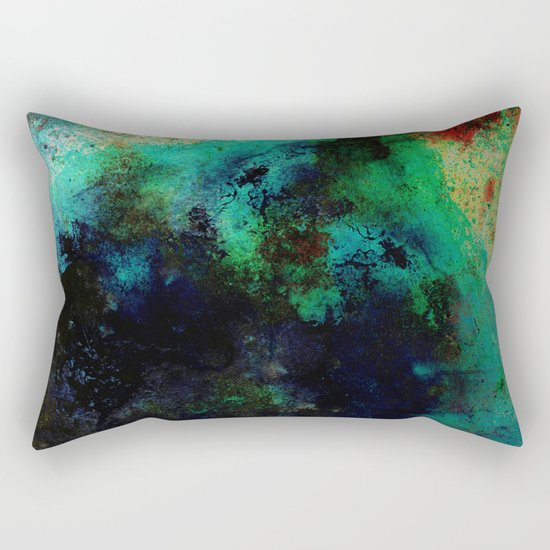 The Life In Your Veins - Abstract, acrylic, textured painting Rectangular Pillow