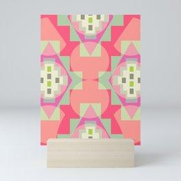 Light shapes in pink Mini Art Print