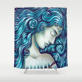 Calypso Sleeps Shower Curtain