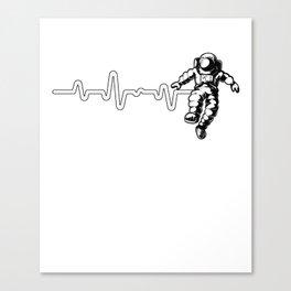 Astronaut Heartbeat Outer Space Explorer Rocketship Canvas Print