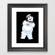 Scared Mr. Stay Puft Framed Art Print