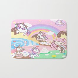 Unicorn Party in Candyland Bath Mat
