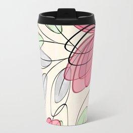 Large pink flowers. Travel Mug