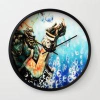 kingdom hearts Wall Clocks featuring Kingdom Hearts _ Sora  by KhalilKhalidy