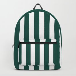 Green And White Stripes Summer Style Backpack