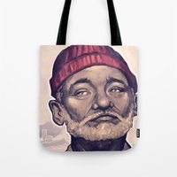 zissou Tote Bags featuring Zissou by Dale C Bowers