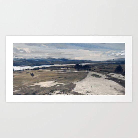 another day at work, wilderness Art Print