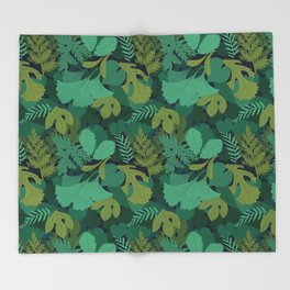 Lost in the Woods Throw Blanket