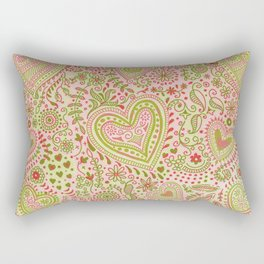Eastern Love Pattern Rectangular Pillow