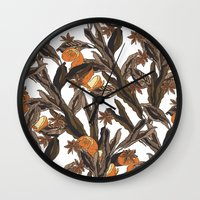 spice Wall Clocks featuring Spice by Marlene Pixley