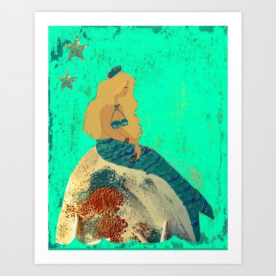 Mermaid Daydreams Art Print