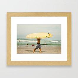 Headless Surfer Framed Art Print