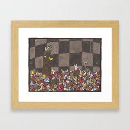 Chicken Pit Framed Art Print