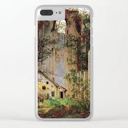 Caspar David Friedrich Monastery Ruins Eldena Clear iPhone Case