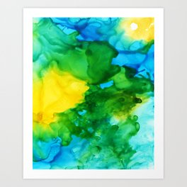 Tropical Flow Art Print