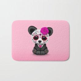 Pink Day of the Dead Sugar Skull Panda Bath Mat