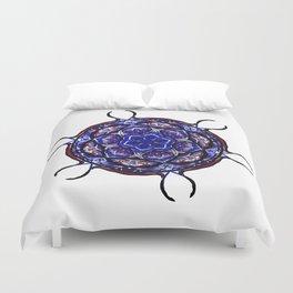 Blue Cell Mandala Duvet Cover