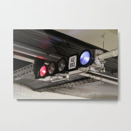 Subway Lights Metal Print