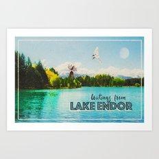 Greetings From Lake Endor Art Print