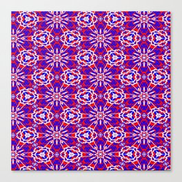 Red, White and Blue Graphic Art Stars 240 Canvas Print