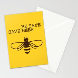 Be safe - save bees Stationery Cards