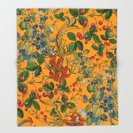 Vintage Garden VII Throw Blanket